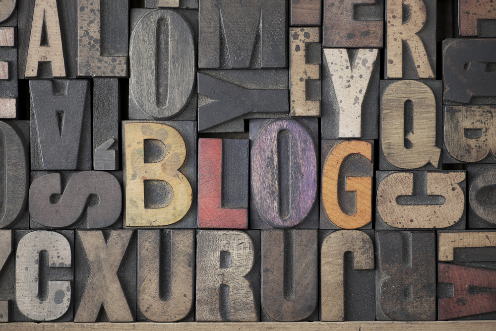 Blogging for business mixed letters and words