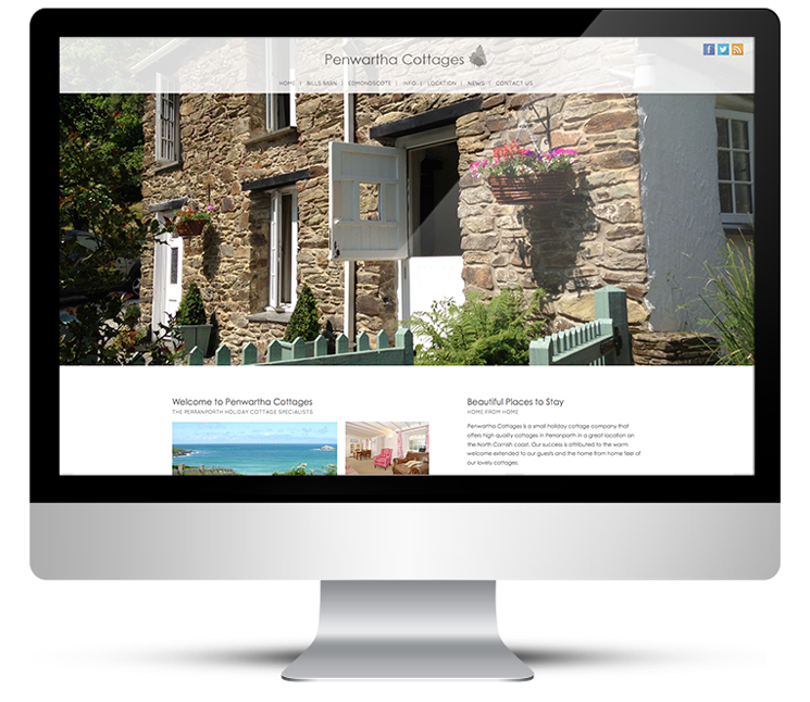 Website Design for holiday cottages in Cornwall