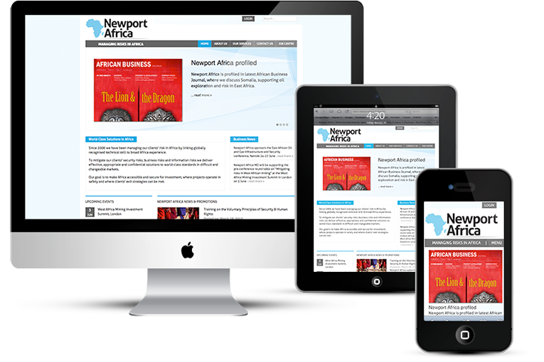 Corporate website design for mobile and desktop