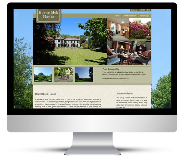 Bosvathick Country House Website by Web Designer Cornwall