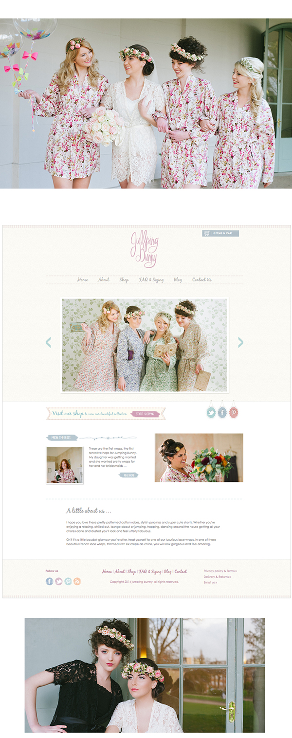 Jumping Bunny website design and blog