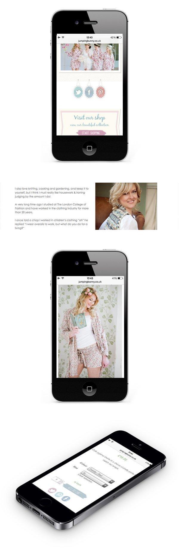 Fully content managed website designed for online shop