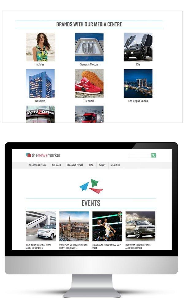 Webdesign for PR agency in London