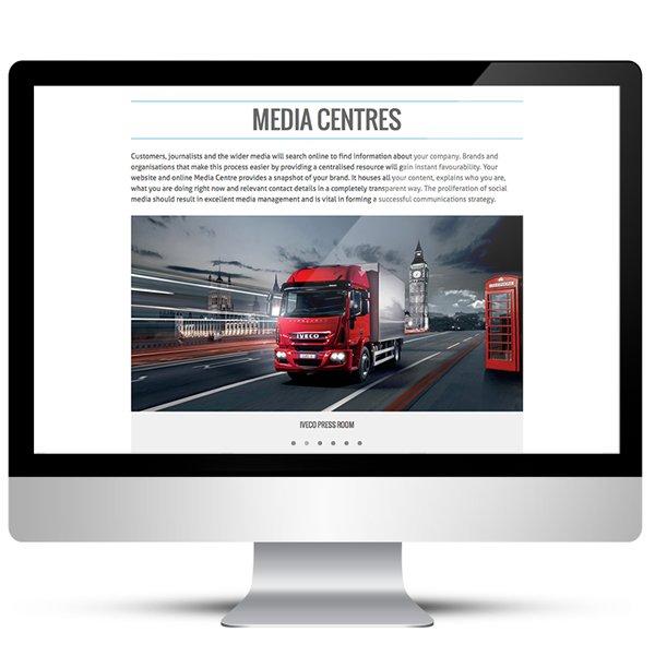 WordPress porfolio website for the NewsMarket