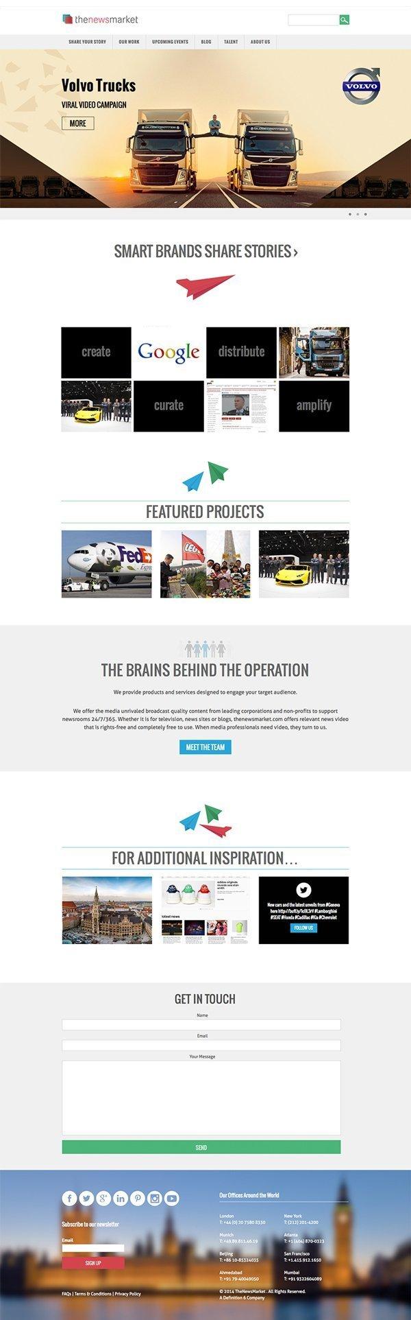 WordPress design, for the NewsMarket London
