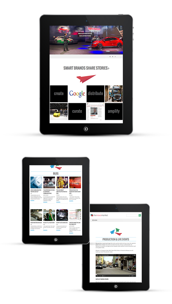 Responsive web design for London PR agency