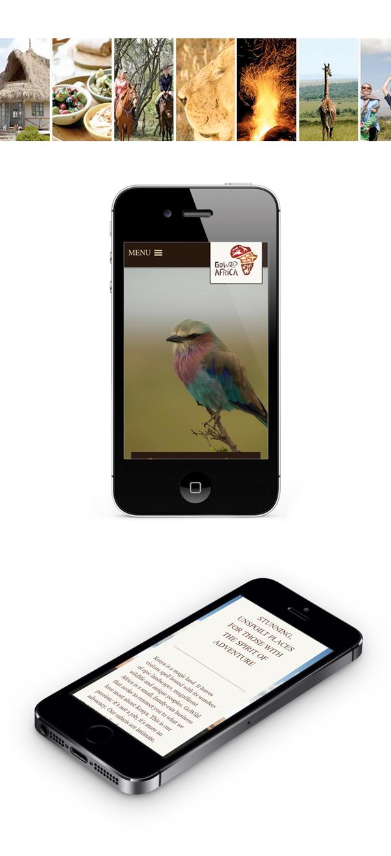 Mobile responsive WordPress site, stunning full screen background images