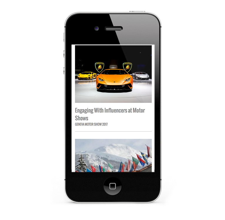 NewsMarket mobile web design, iPhones & smartphones