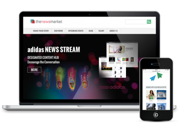 thenewsmarket website design and WordPress development
