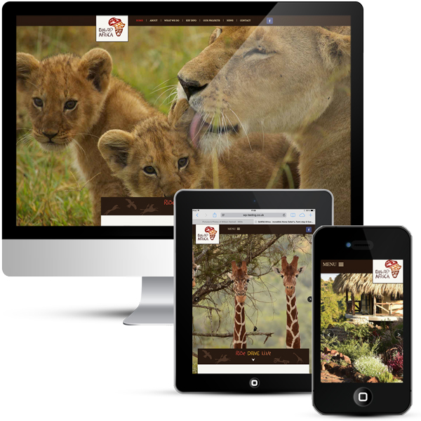 Beautiful web design for Kenyan Safari experience