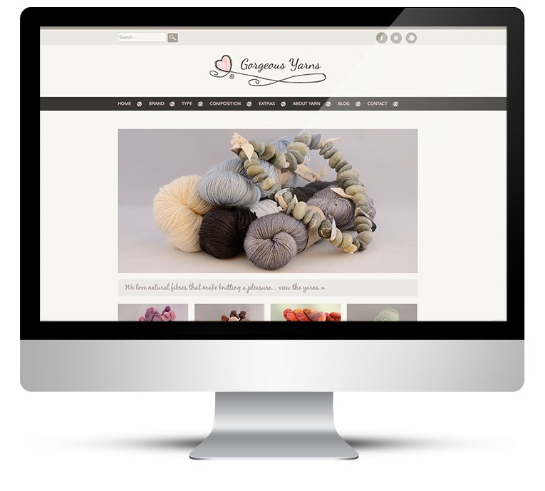 Gorgeous Yarns WordPress Website Design