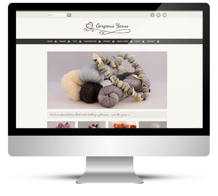 Gorgeous Yarns WordPress Website Design