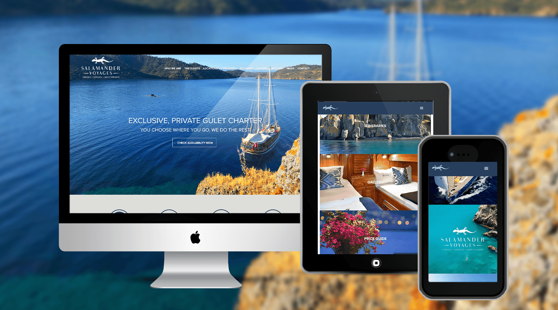 Beautiful Holiday Website for Salamander Voyages
