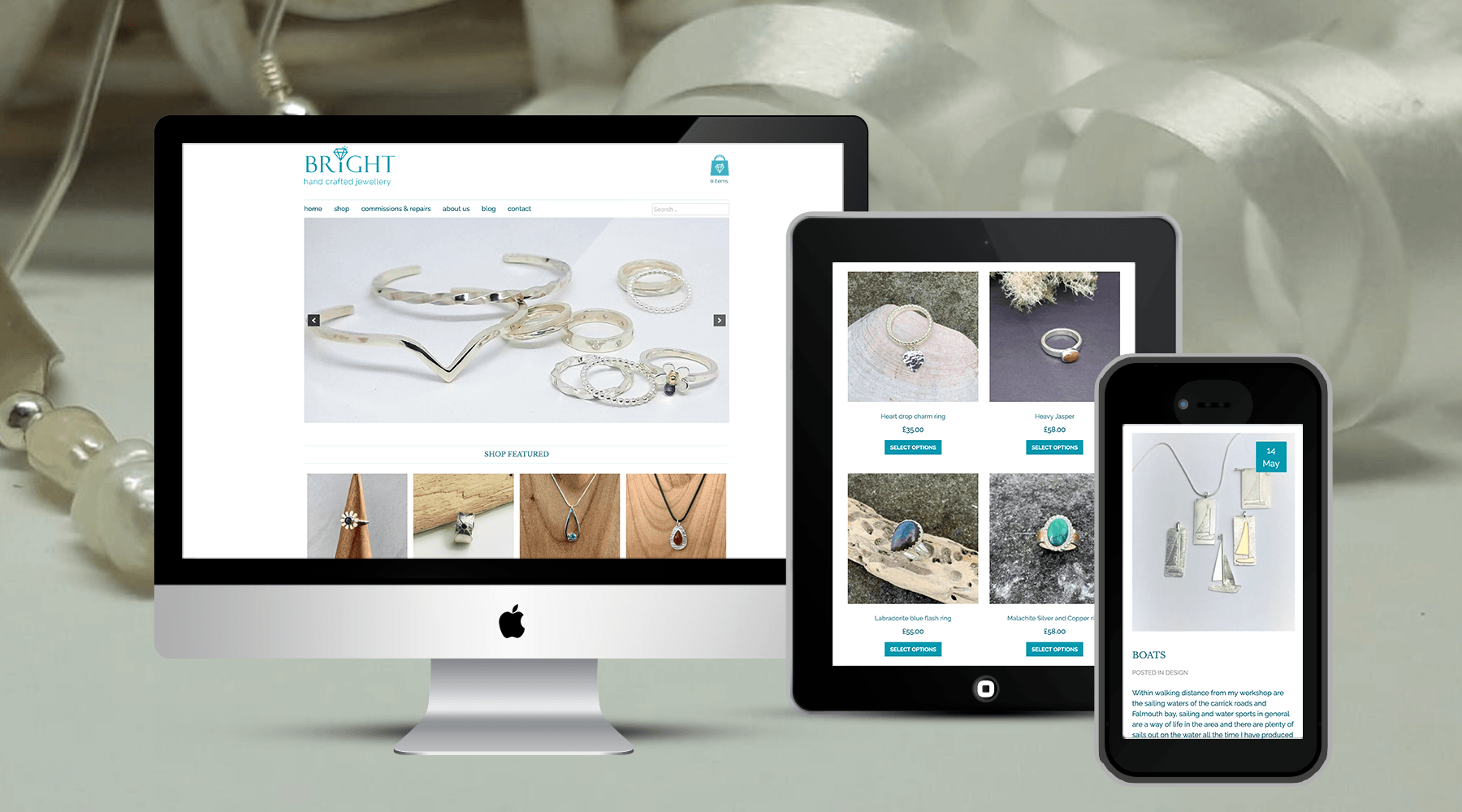 Online Store eCommerce for Bright Jewellery Design