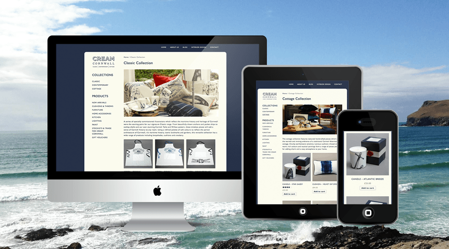 eCommerce Online Store for Cream Cornwall Homewares