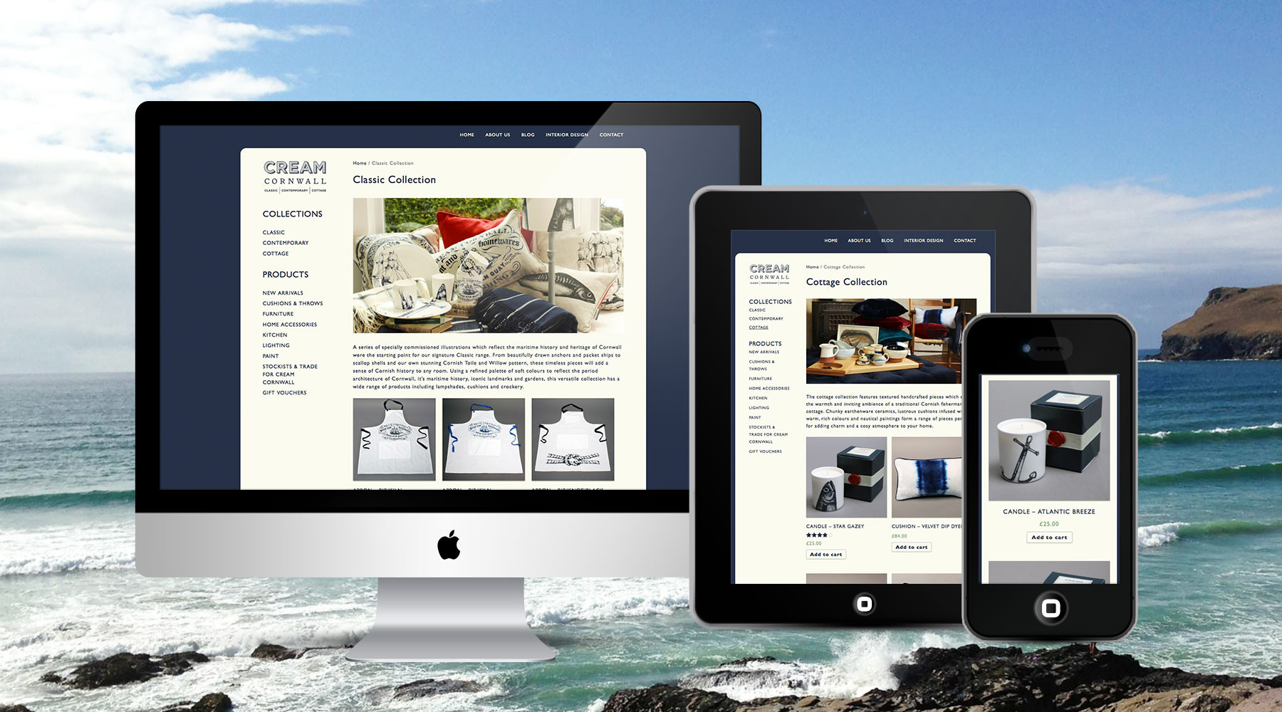 Cream Cornwall eCommerce Website