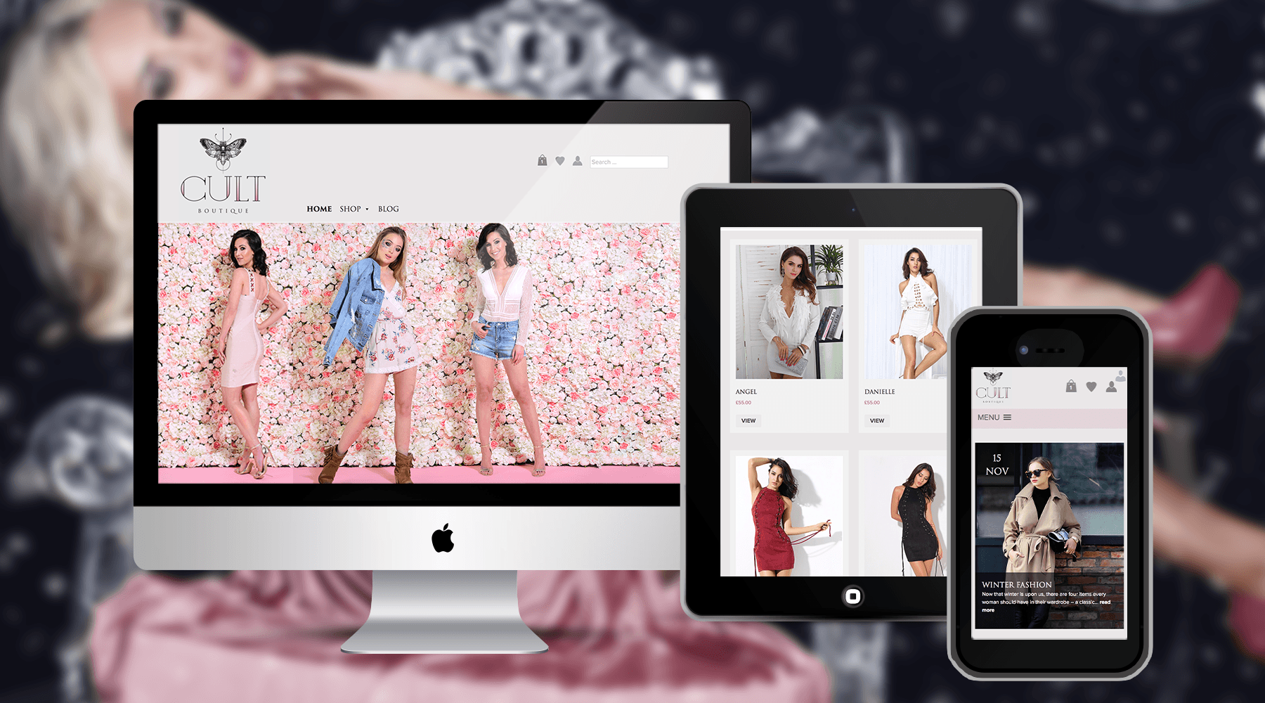 eCommerce Design for The Cult Boutique Fashion Store
