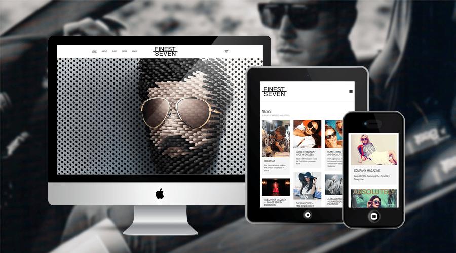 eCommerce Design for Finest Seven Sunglasses