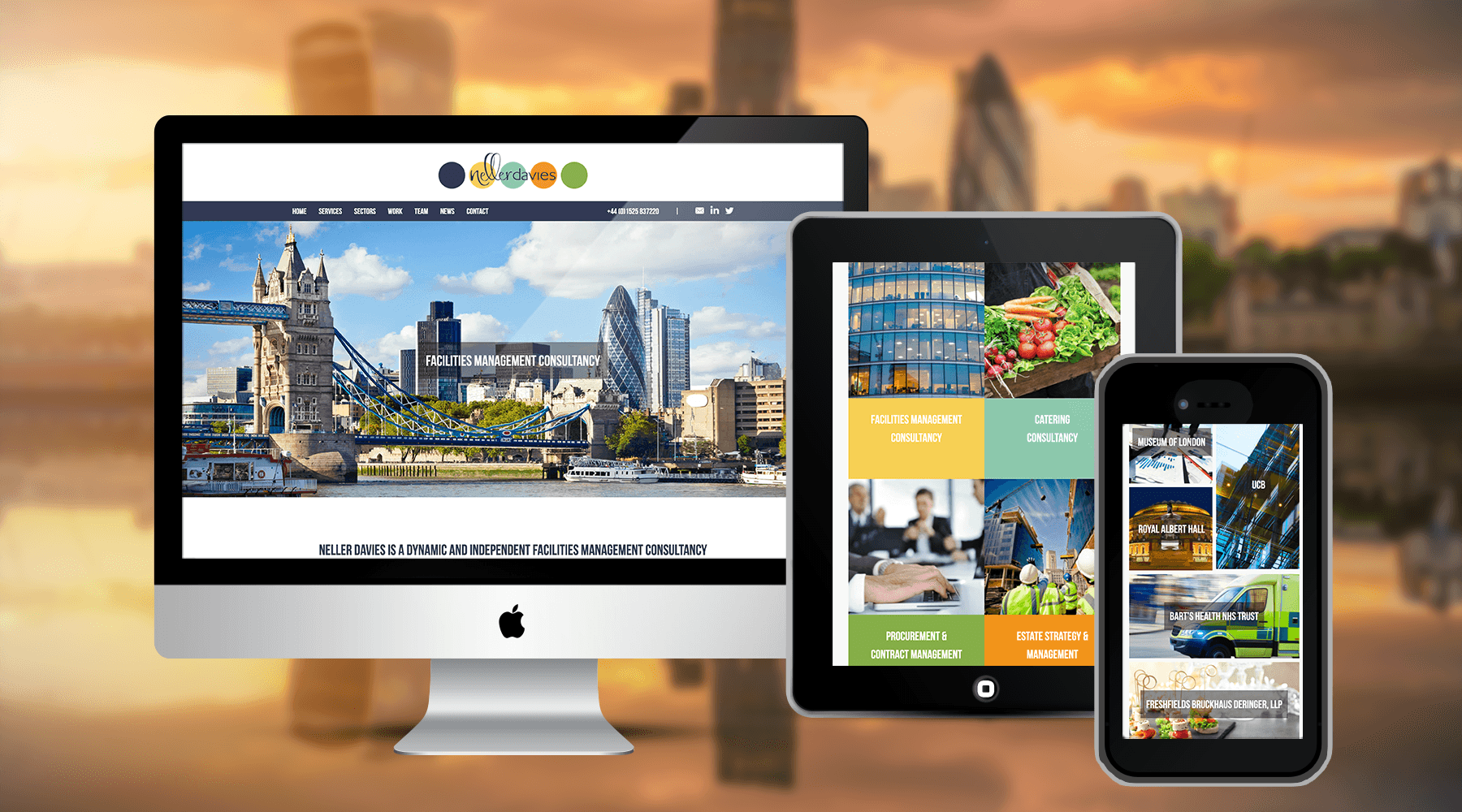 Corporate Web Design for London Based Facilities Management Company