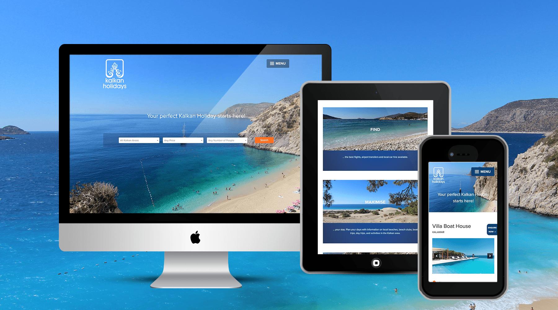 Kalkan Holidays - Holiday bookings web design