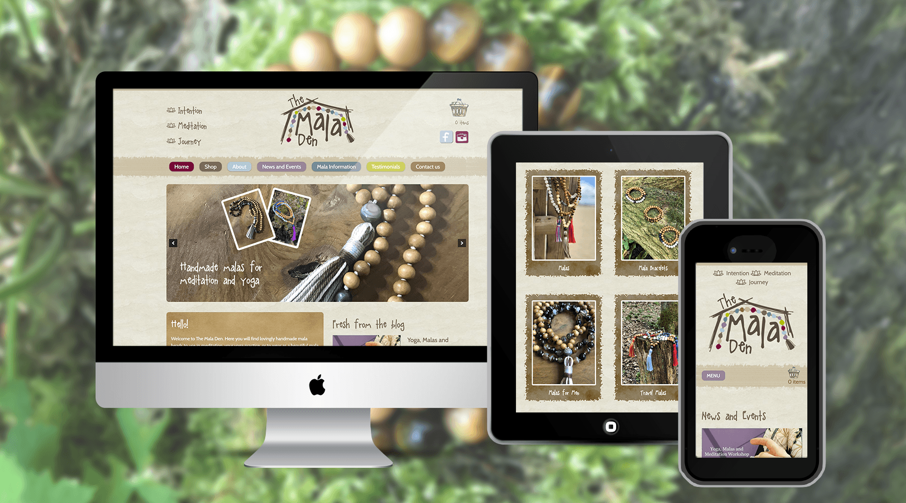 Quirky online shop for the Mala Den