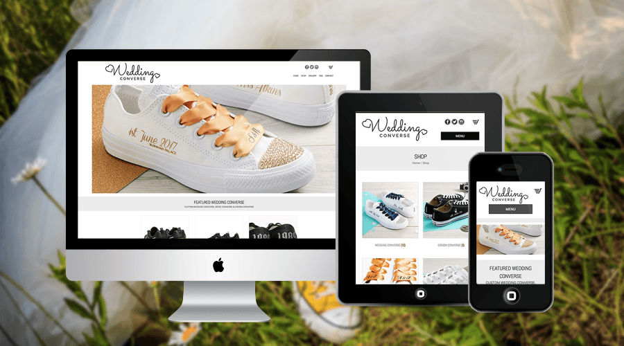 Wedding Converse eCommerce Online Store