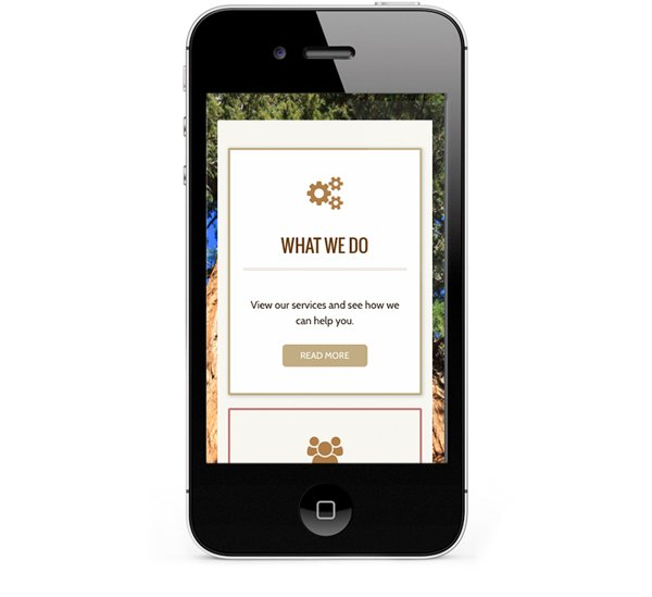 Mobile friendly web design, clear on iPhone