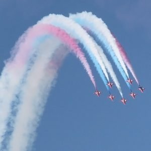 Spectacular Red Arrows display