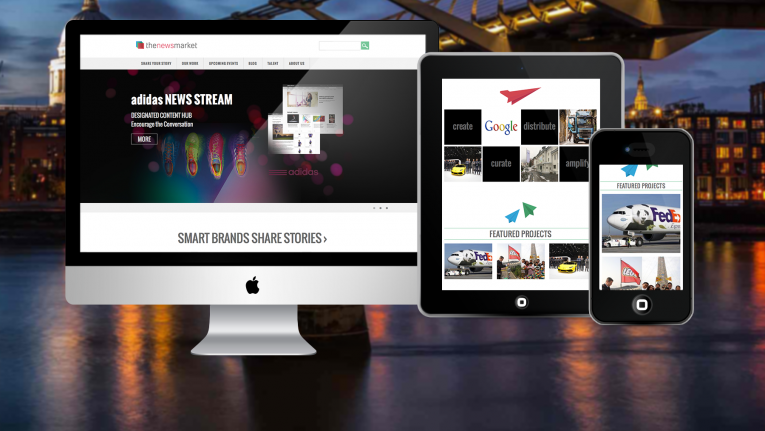 The Newsmarket WordPress website design