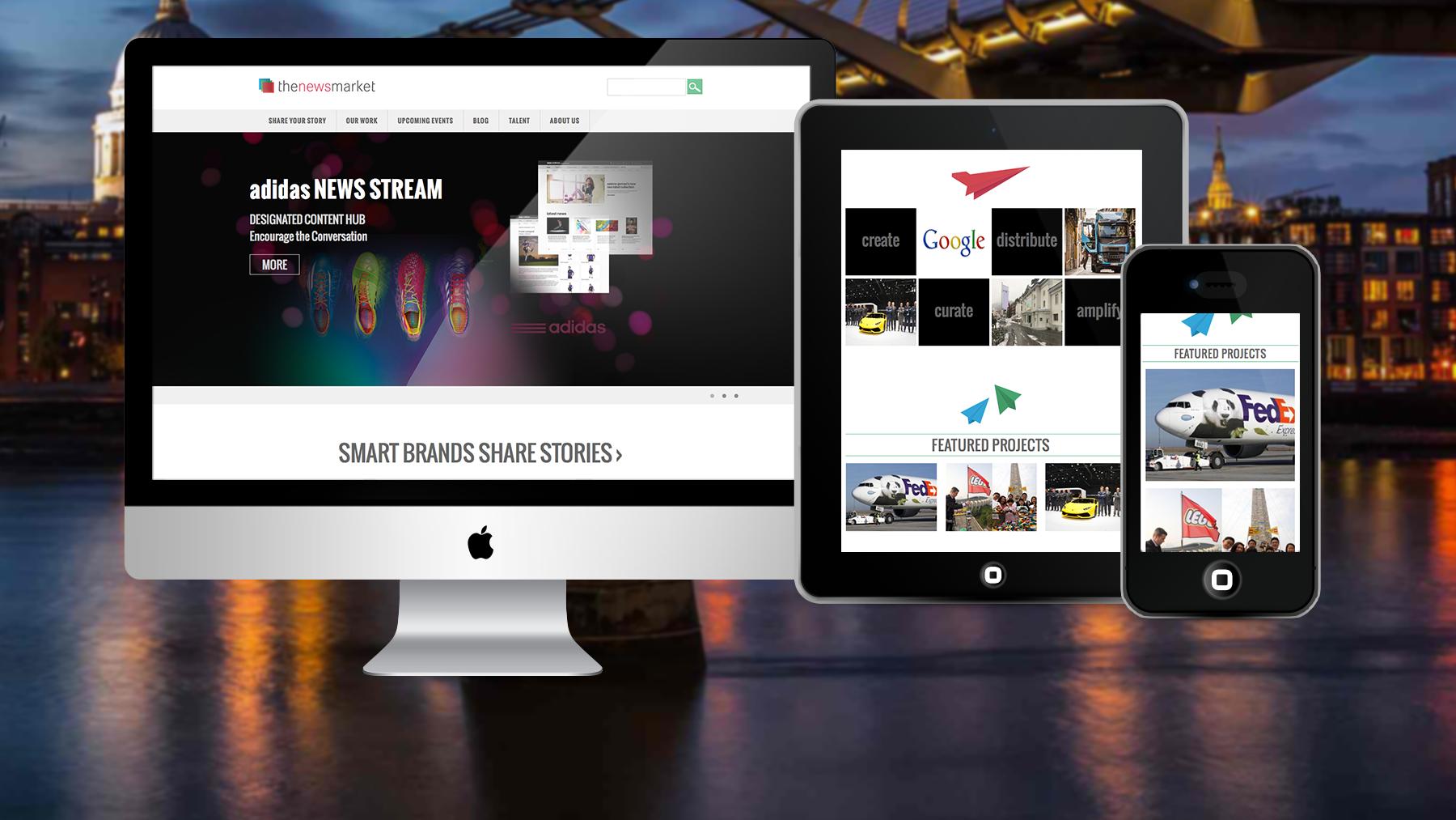 The Newsmarket WordPress website design
