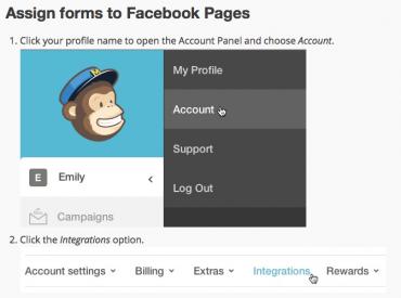 MailChimp sign up form for Facebook