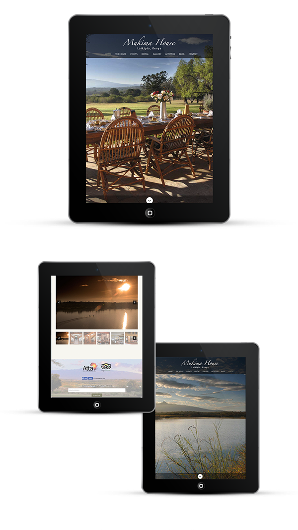 Fully responsive design works on tablets and iPads