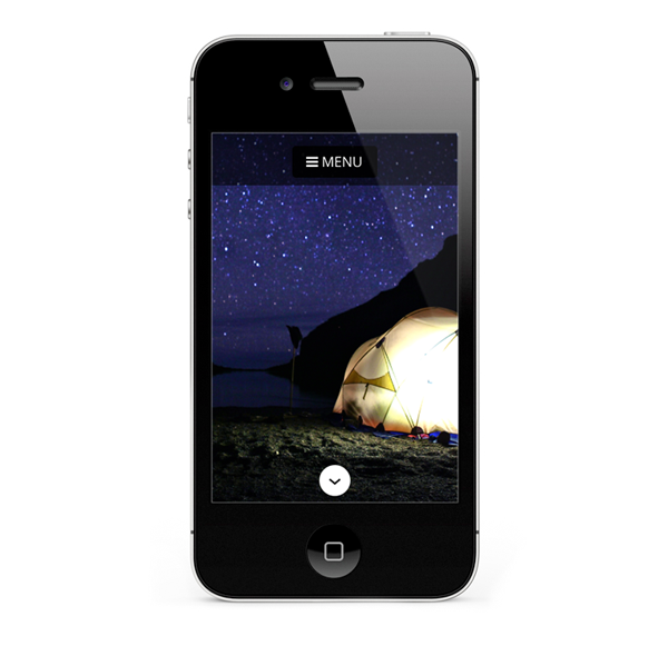 Mobile friendly web design for iPhone