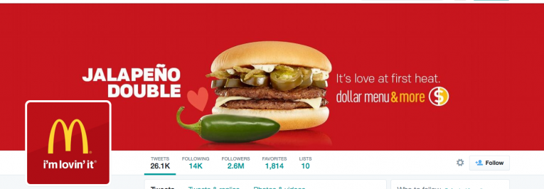 MacDonalds use their background image for promotions