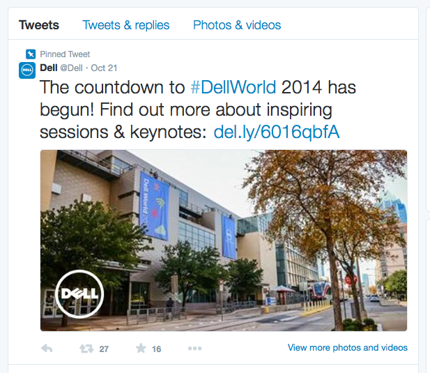 Dell use theirs to promote an event