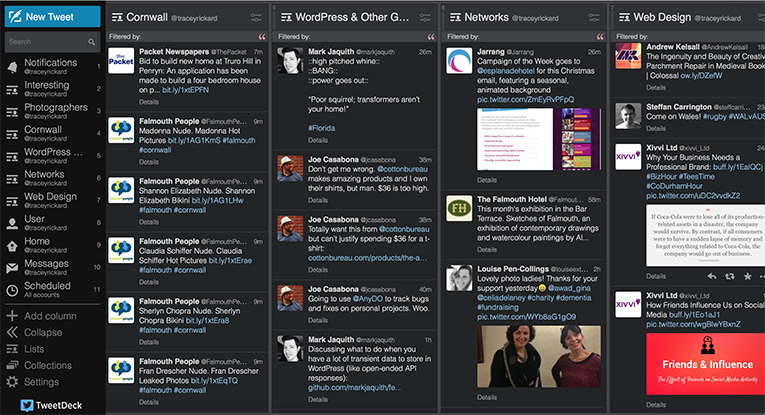 My Tweetdeck organises my Twitter Lists into Columns