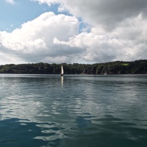 Sailing on the Helford River