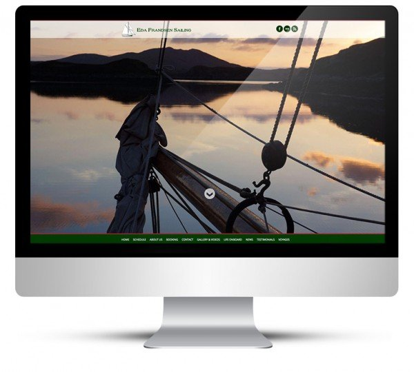 New custom WordPress theme design for Eda Frandsen Sailing