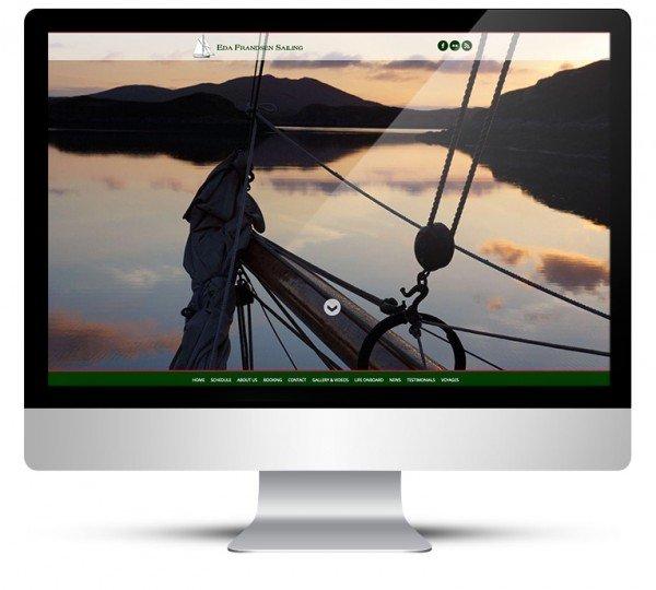 New custom WordPress theme design for Eda Frandsen Sailing
