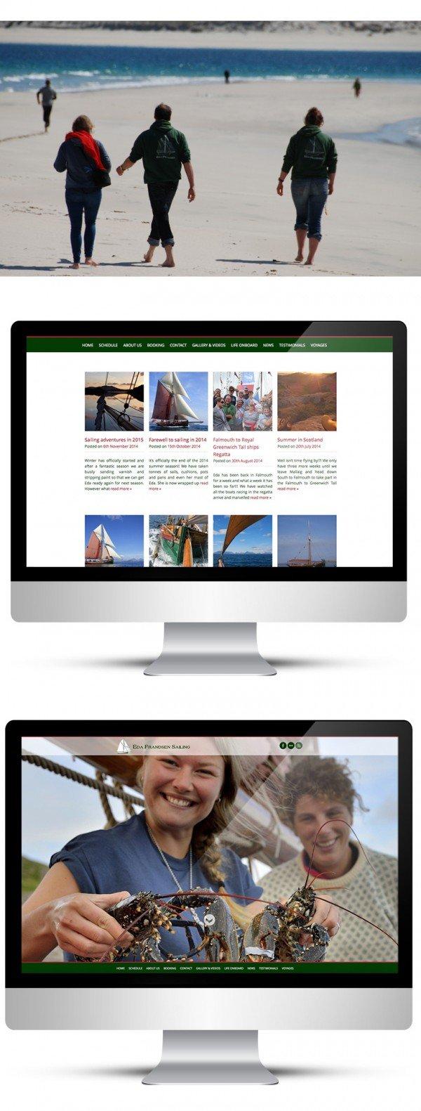 Web design and blog for Eda Frandsen Sailing