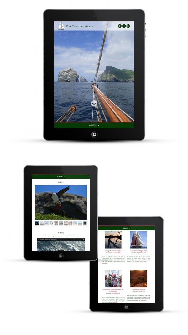 Mobile responsive design for iPads and tablets