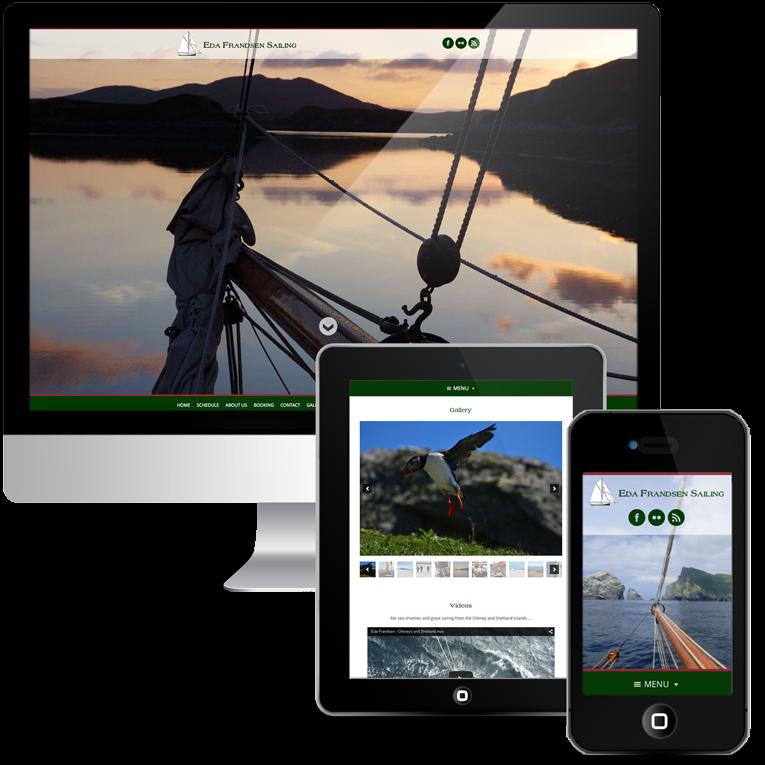 Responsive web design for sailing company