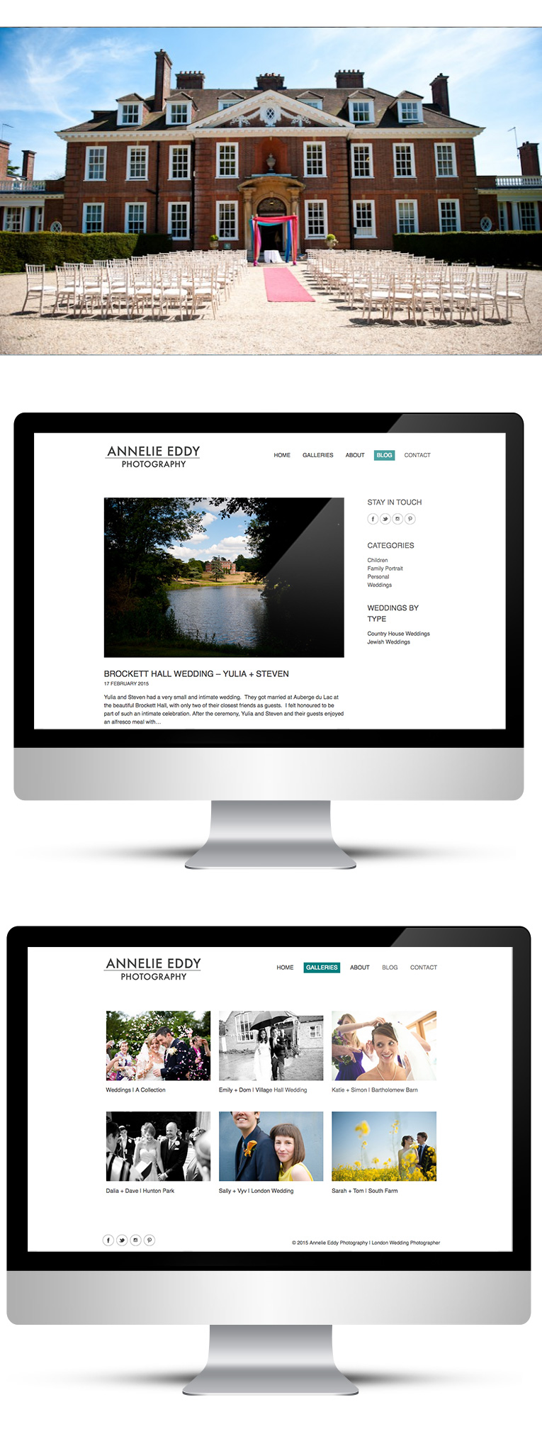 WordPress Custom Theme Design for London Wedding Photographer