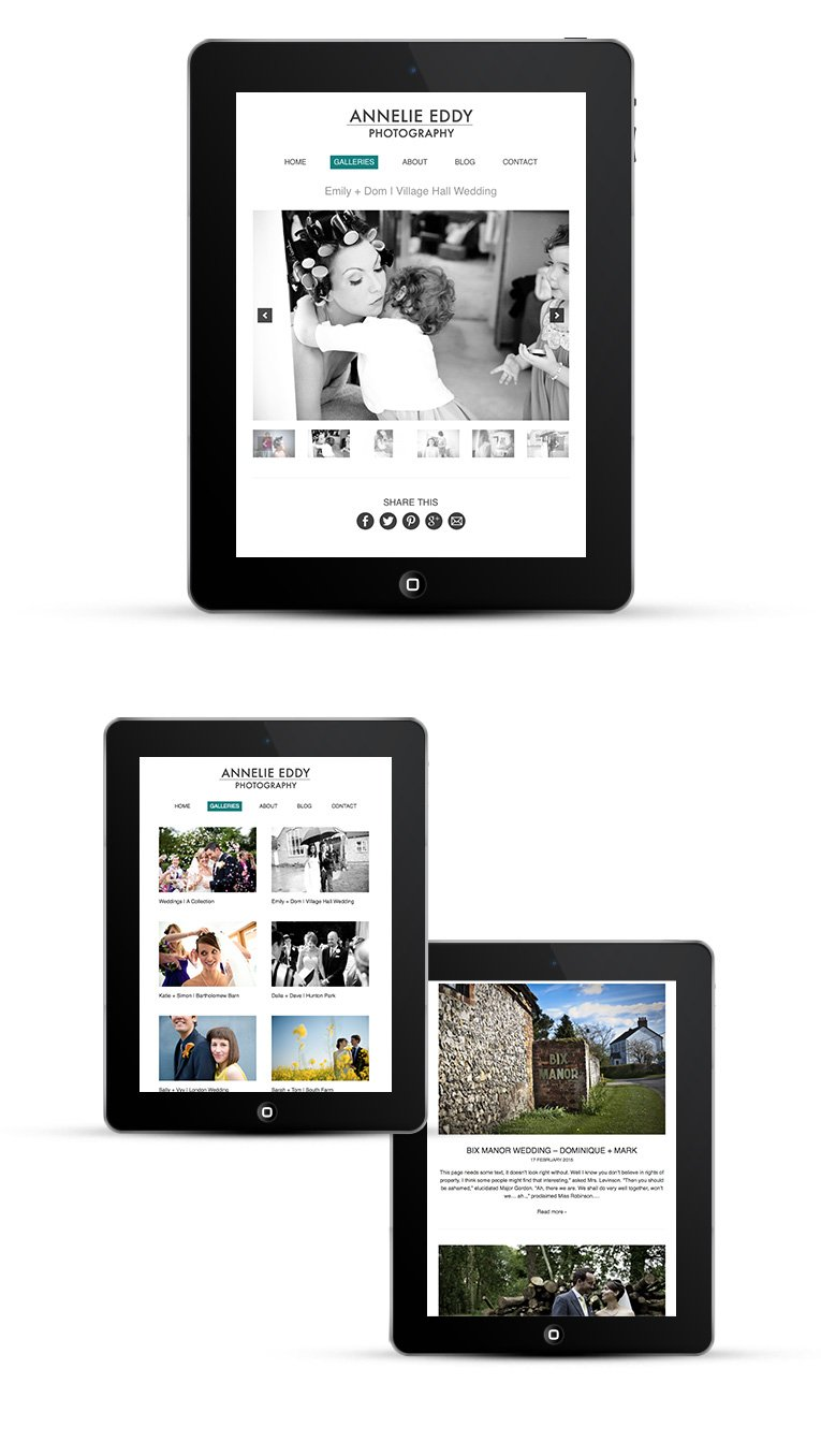 Mobile responsive design for iPads and other tablets