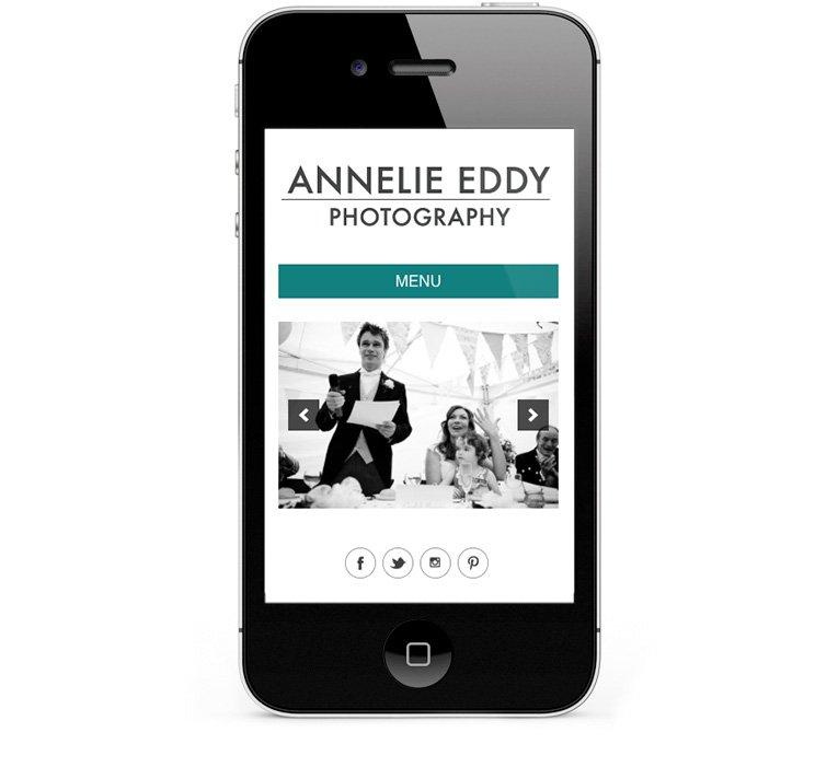 Google friendly web design for London Wedding Photographer