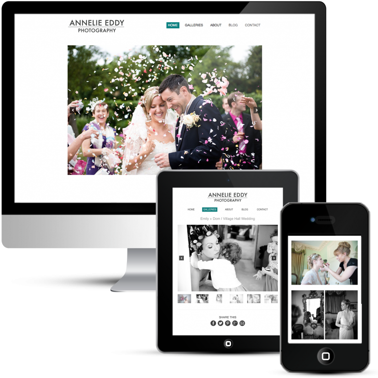 Custom WordPress Web Design for London Wedding Photographer