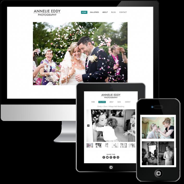 Custom WordPress Web Design for London Wedding Photographer