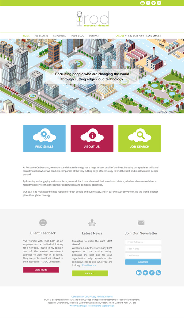 ROD home page web design
