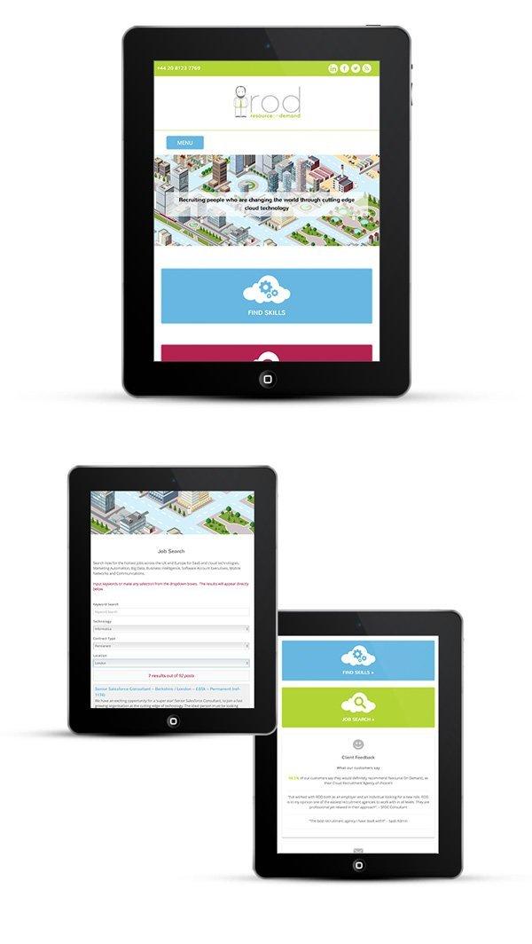 Mobile responsive web design - tablets