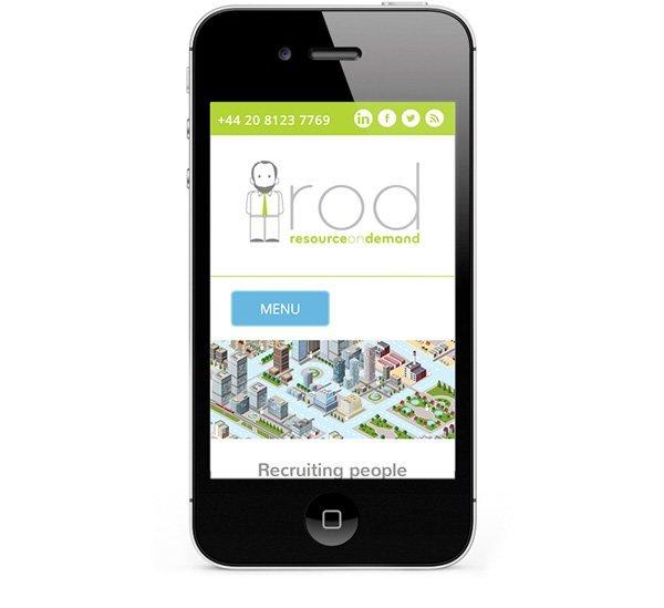 Mobile responsive website design - smartphones